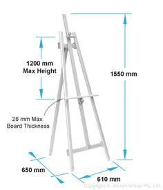 Display Dimensions 1500(H) x 610(W) x 650(D) mm $120