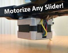 Make an Arduino Controlled Motorized Camera Slider! - All