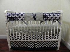 Custom Bumperless Baby Crib Bedding Set by BabyBeddingbyJBD