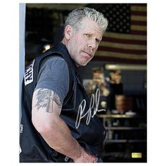 Ron-Perlman-Autographed-8x10-Sons-of-Anarchy-Clay-Scene-Photo-CA