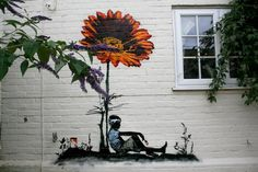 street art. Would love this on the side of my dream house. Could redo it every once in a while