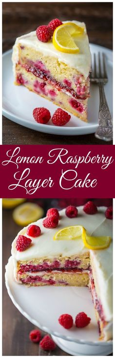 If you like lemons and raspberries you're going to LOVE this Lemon Raspberry Cake! | Posted By: DebbieNet.com