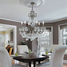Crystal Chandelier With Medallion! Dining Room ...