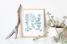 Eucalyptus watercolor, Printable Watercolor, Eucalyptus print, Abstract watercolor print, Modern watercolor wall art, Digital art