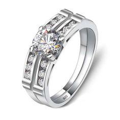 Wranwynn Sterling Silver Rings Cubic Zirconia