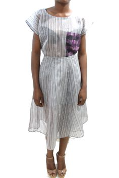 Panelled Flared Midi Skirt #grey #africanfashion #NigerianFashion #BuyNigerian   Available at http://lespacebylpm.com/