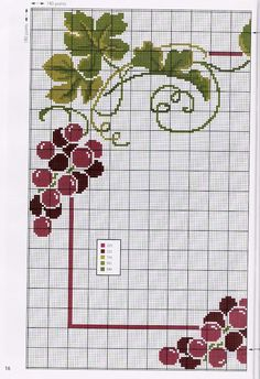 ♥ My point Graphs Cross ♥: Grapes and Wine in Point Cruz for Pillows Tablecloths