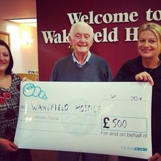 Rothwell Circle have donated some of our fundraising to Wakefield Hospice. A very worthy cause.