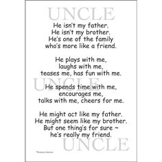 Sweet Saying Uncle You Are Like Having A Great Coach A Favourite