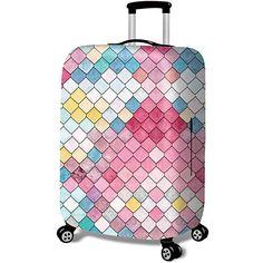 Polka Dot Design Travel Suitcase Protector Anti-scratch Washable Dust Thicken Elasticity Cover Travel Luggage Cover