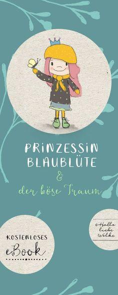 """Hat Dein Kind auch manchmal einen Albtraum? Ein Traumfänger kann helfen. ;) Prinzessin Blaublüte hat nicht nur ein kostenloses eBook für Kinder in Kita, Kindergarten, Vorschule und Grundschule für Dich, sondern auch ein kleines DIY zum Basteln eines Traumfängers. Ein kostenloses Freebie zum Download und ausdrucken im Februar, auch zum Thema Natur und Umwelterziehung. Vom Blog """"Hallo liebe Wolke"""". #Printable #Erziehung #Kinderbuch"""