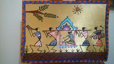 Warli painting ! Doli. by Seema Jay