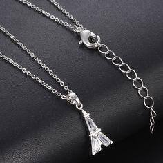 c217fb413 HOMOD Newest Quality Micro-set Cubic Zircon Elegant Jewelry Paris Eiffel  Tower Necklace For Women
