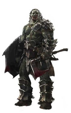 Tagged with inspiration, dnd, pathfinder, orcs, character design; DnD Race inspiration dump: Orcs and other hard to love faces Fantasy Races, High Fantasy, Fantasy Rpg, Medieval Fantasy, Fantasy Portraits, Character Portraits, Character Art, Orc Warrior, Fantasy Warrior