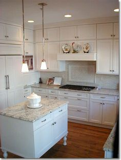 Pretty traditional white kitchen in Old Town Alexandria