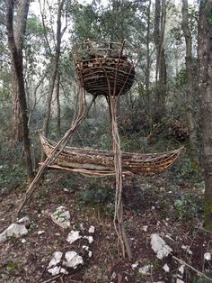A Year in a French Forest: Sculpture 19.Forest Sculptor Spencer Byles.
