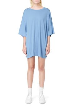 Weekday image 25 of Huge T-Shirt Dress in Blue