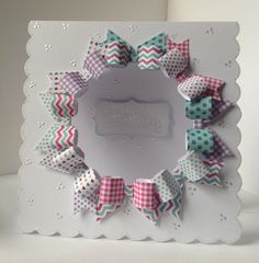 Card created by Julie Hickey using Happy Days Paper Bows Pad