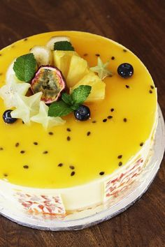 Gourmet Baking: Tropical Cake with Exotic Fruits and A Giveaway!