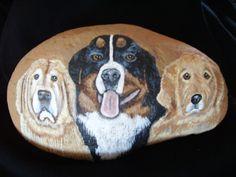 Custom Pet Portrait Rocks /Fine Art Stone