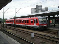 A Deutsche Bahn train at the Braunschweig Hauptbahnhof in Braunschweig, Niedersachsen (Germany). 1 July 2012