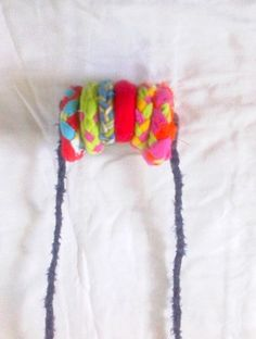 Colored circles necklace Drops on the neck by recyclingroom, $35.00