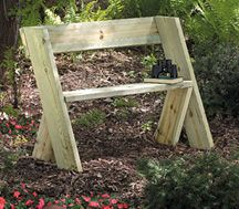 rustic garden bench....so simple.....1 hour project