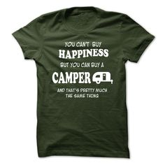 cool Happiness and Camper  Check more at http://hottshirts.xyz/name-tshirts-coupons/happiness-and-camper-online.html