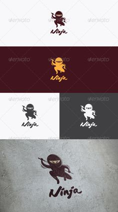 Ninja Logo  #GraphicRiver         This logo is an illustrative and iconic logo design with the symbol of ninja. suitable for any business and companies who want to represent the identity as a ninja character. The item consist of AI Illustrator and EPS Vector format that fully editable  	 Font used : Japanese Brush (free)     Created: 4September12 GraphicsFilesIncluded: VectorEPS #AIIllustrator Layered: Yes MinimumAdobeCSVersion: CS Resolution: Resizable Tags: brand #character #