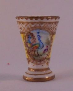 French Peacock Flared Vase by Christopher Whitford