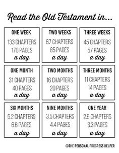 FREE PRINTABLE 365 day Book of Mormon Reading Schedule ...