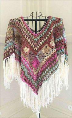 Boho Poncho Crochet Pattern