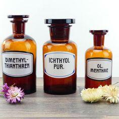 Maison de poupées herboriste//apothicaire Square Herb Label Set 5