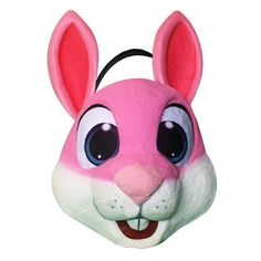 Pink Easter Bunny Basket Egg Hunt Carry Tote Kids Toy Girls Gift Rabbit Pail New