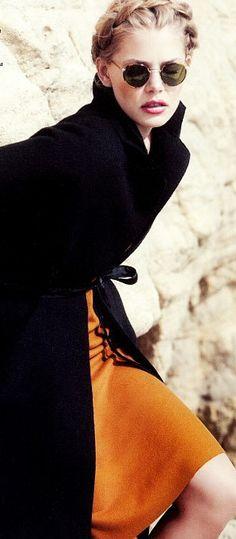 Orange and Black Fashion