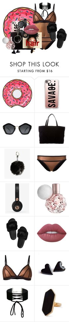 """""""copper beach"""" by kiyanna0417 on Polyvore featuring Casetify, Miu Miu, Chanel, Azalea, Duskii, Beats by Dr. Dre, Lime Crime, Miss Selfridge and Jaeger"""