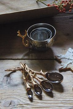 Twisted Twig Measuring Spoons - anthropologie.com
