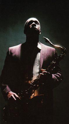 John Coltrane, jazz saxophonist and composer. Working in the bebop and hard bop… Jazz Artists, Jazz Musicians, Music Artists, Miles Davis, Soul Jazz, Music Icon, My Music, Soul Music, Musica Black