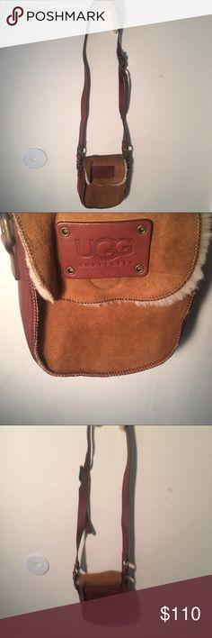 UGG Messenger bag BRAND NEW UGG messenger bag. Fur on the strap and on bad. Great condition UGG Bags Satchels