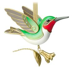 2014 Beauty of Birds Hummingbird Hallmark Keepsake Ornament - Hooked on Hallmark Ornaments