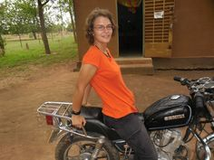 Sur la moto du service, Nouna Burkina 2012