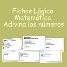 Fichas Lógica Matemática. Adivina los números Os presentamos nuestro nuevo material para desarrollar el pensamiento lógico matemático. En ocasiones, cierta