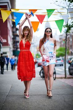 e63d40eac8c3f Pheobe Red Lace Midi Dress & Peony Romper + Liberation Aviator  Sunglasses - Silver/