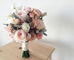 gute zum valentinstag Rustic Garden Wedding Bouquet of Blush and Ivory Da. - gute zum valentinstag Rustic Garden Wedding Bouquet of Blush and Ivory Dahlias Peonies and R - Bridal Flowers, Flower Bouquet Wedding, Blush Bouquet, Bouquet Of Flowers, Flowers Online, Boquette Flowers, Peonies Bouquet, Wedding Flower Arrangements, Vintage Bridal Bouquet