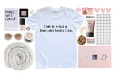 """Feminism"" by planet-earth-is-blue ❤ liked on Polyvore featuring Linea, Bobbi Brown Cosmetics, NARS Cosmetics, Diptyque, KORA Organics by Miranda Kerr, Korres, Witchery and The Body Shop"