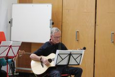 Our learners creating some tunes on guitar - to join this course, or any of our other courses, go to www.uk or call 01296 382 403 Guitar Classes, Music Class, Join, Acoustic Guitar Lessons, Guitar Lessons