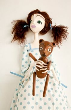 Ingrid - OOAK Art Doll. via Etsy.