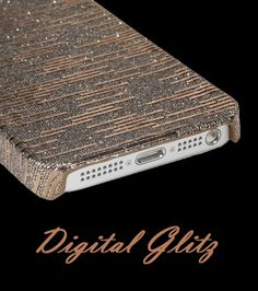 Filled with sparkles and desire, the Bronze digital glitz ☆:* iPhone 5 case