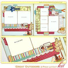 Simple Scrapbook Layouts   ... & Polka Dots: June Mini Album & Scrapbook Layout Kits Released