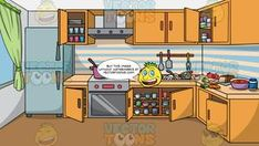 An Apartment Bathroom Background – Clipart Cartoons By VectorToons Kitchen Background, Messy Kitchen, Background Clipart, Shower Hose, Cupboard Doors, Modern Exterior, Car Parking, Wall Tiles, Tub